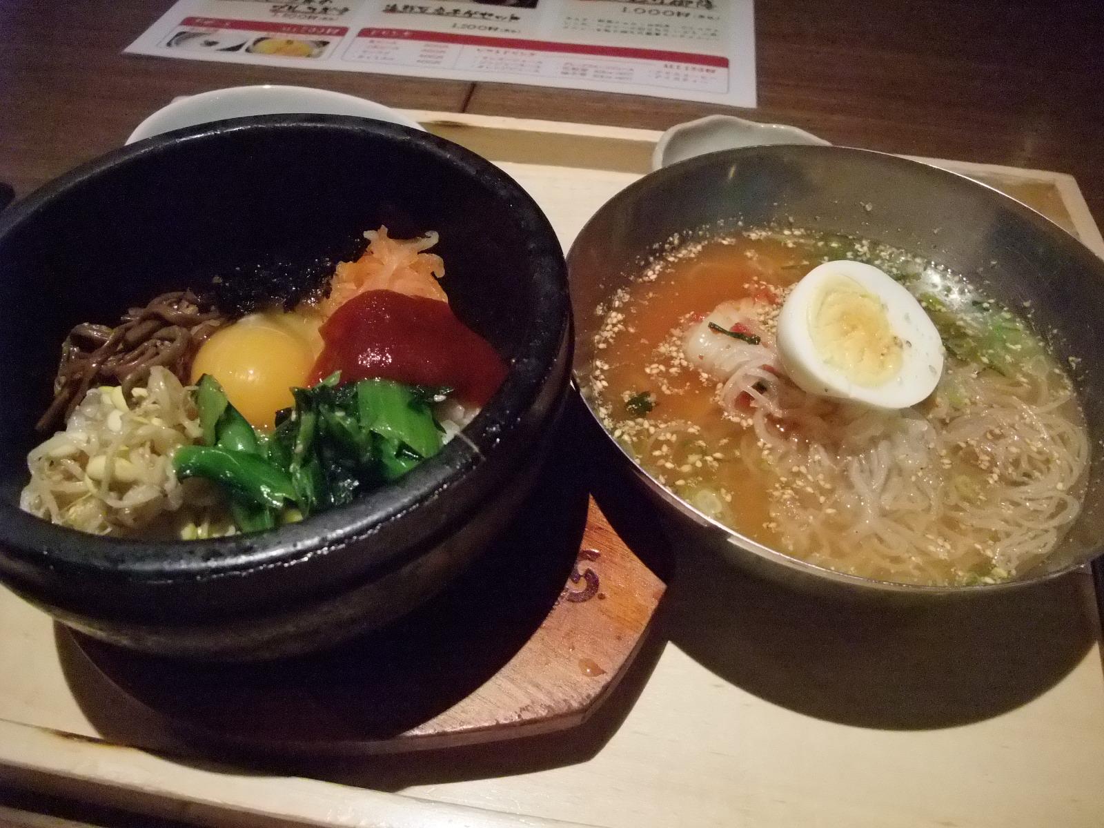 銀座 いふう 石焼ビビンバとミニ冷麺