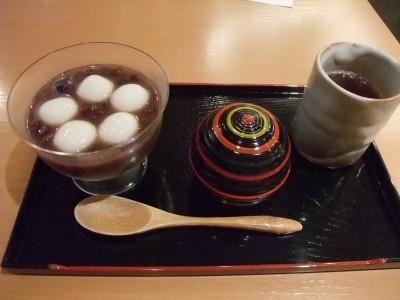 松崎煎餅お茶席 冷ぜんざい