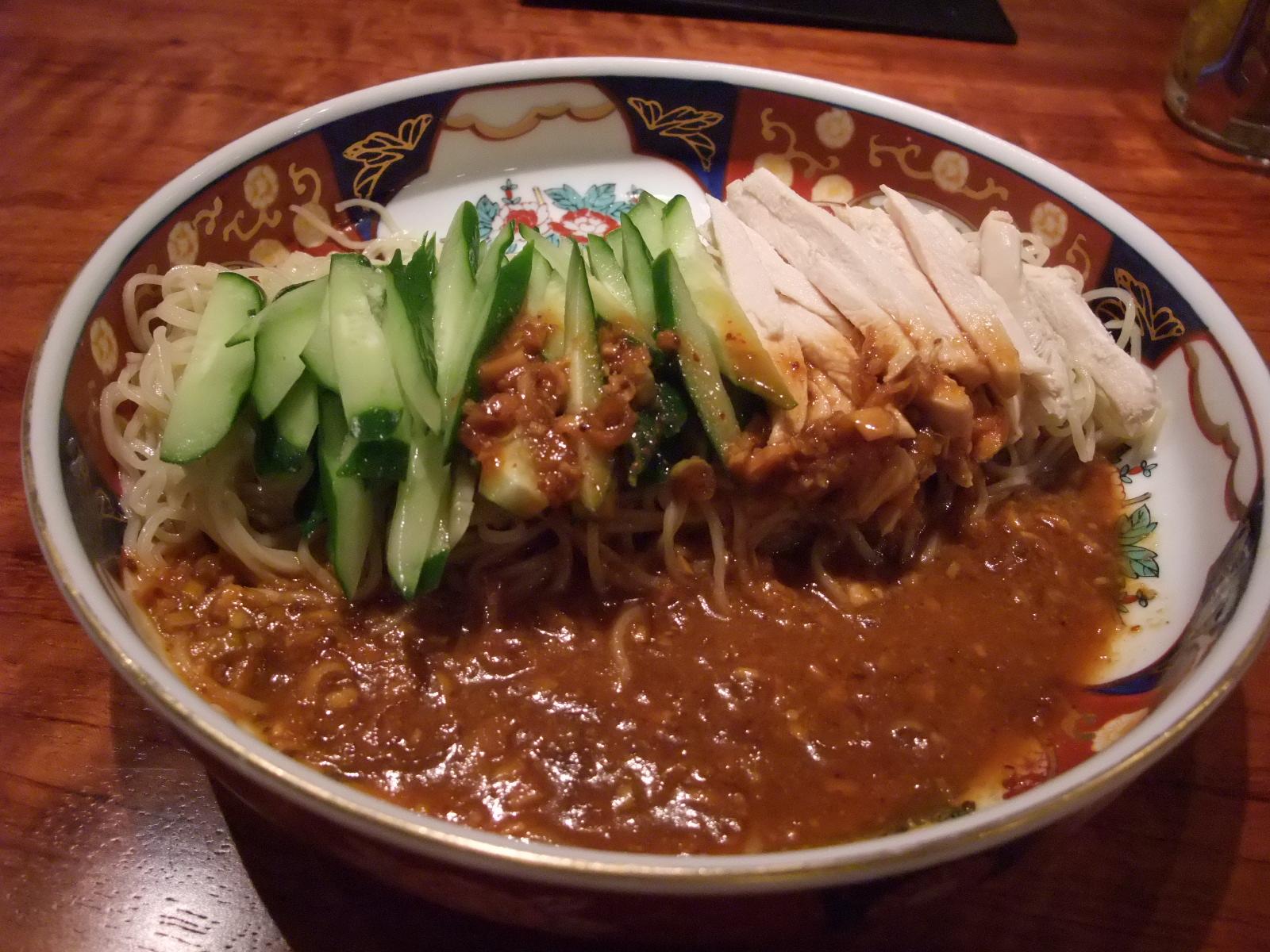 銀座 支那麺はしご 鶏絲涼麺