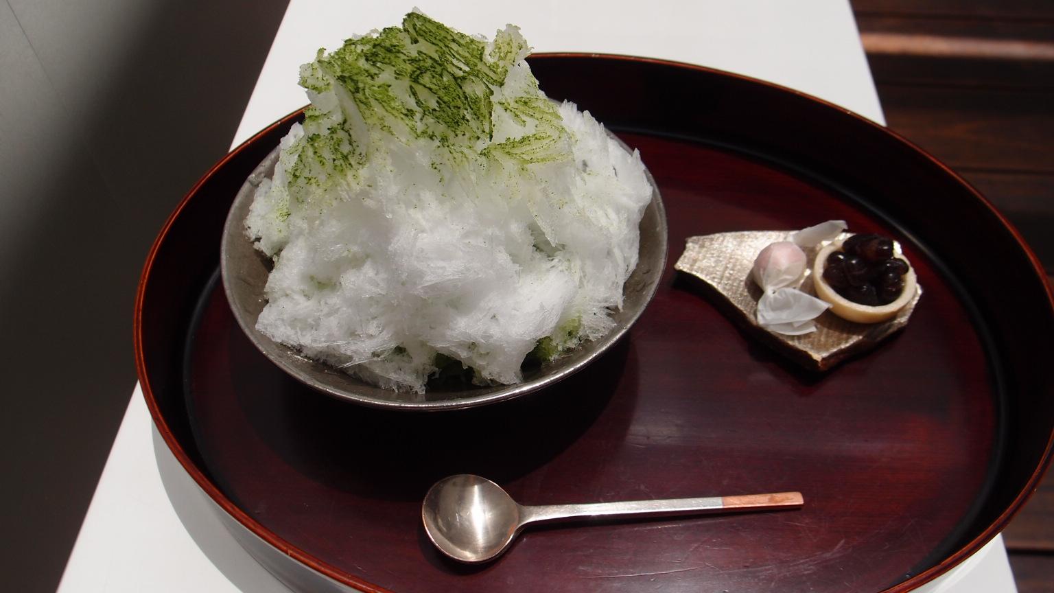 銀座 うおがし銘茶 茶・銀座 濃茶かき氷