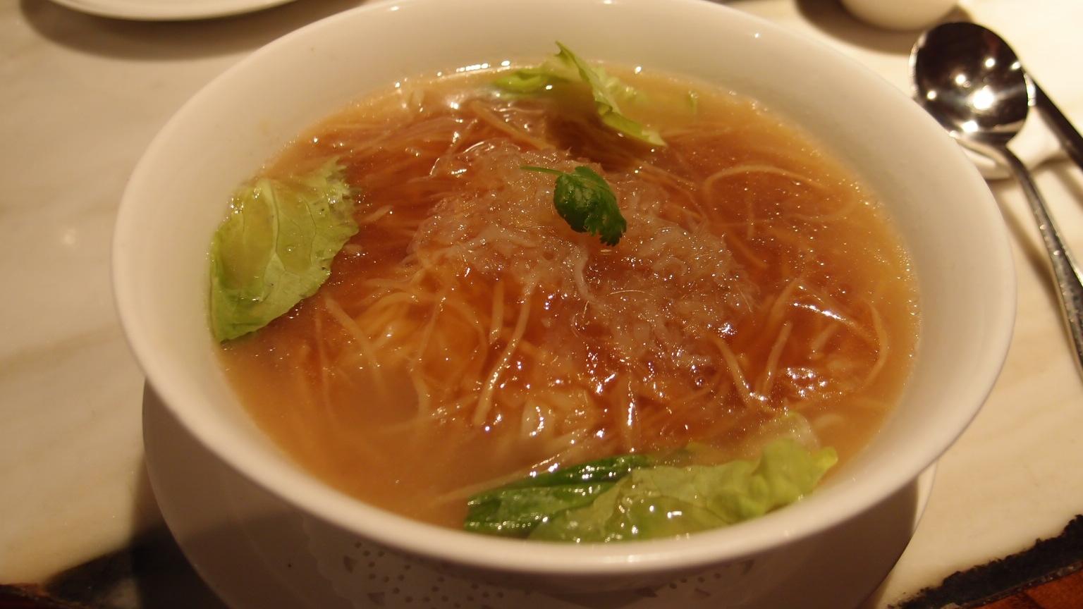 銀座 全聚徳 フカヒレ麺&北京ダックセット