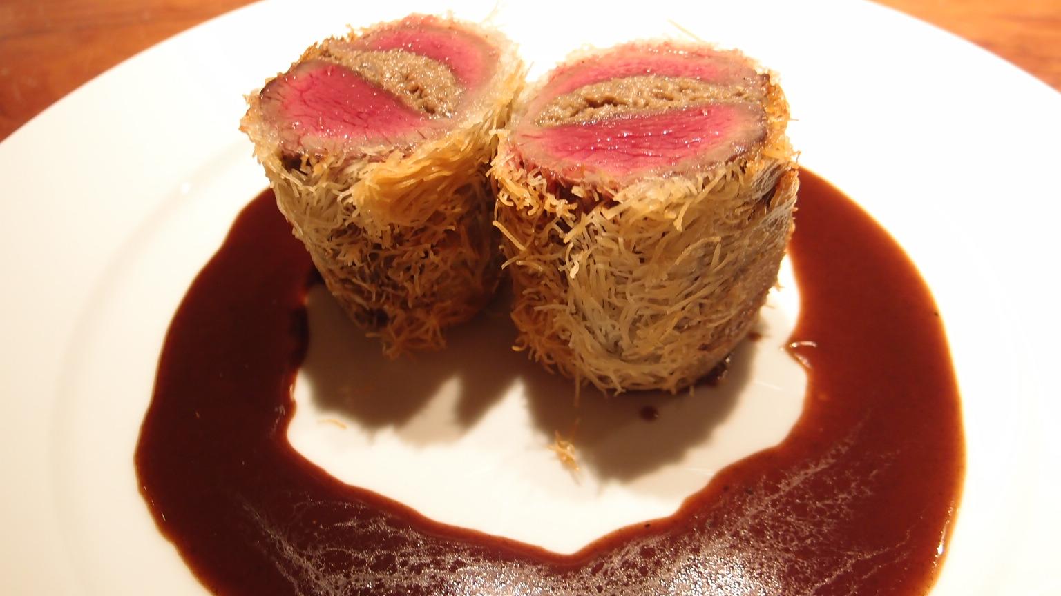 銀座 Le Nougat(ヌガ) 蝦夷鹿もも肉のカダイフ巻など | ランチMenuA