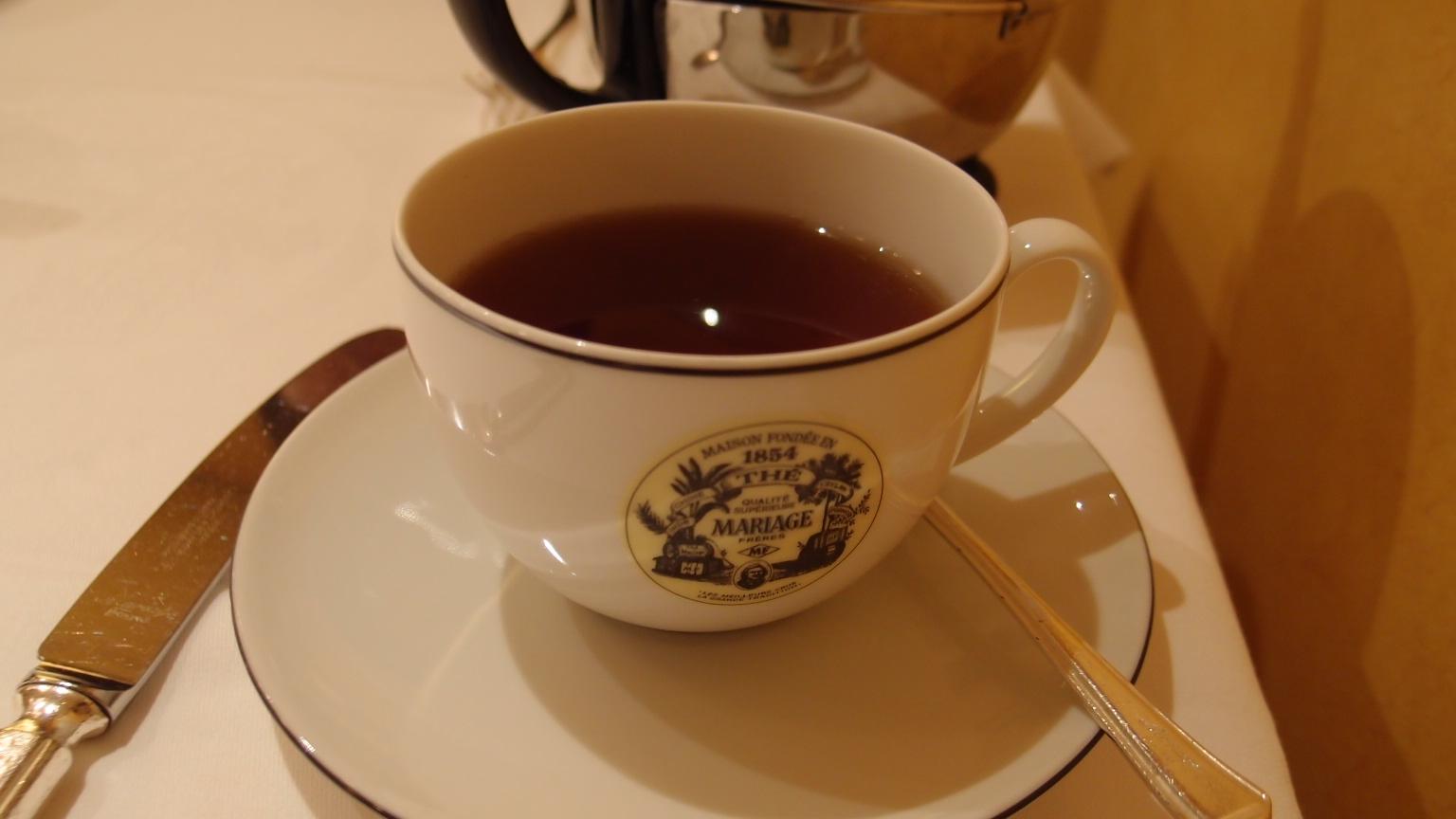 銀座 マリアージュ・フレール アールグレイ、ケーキ | 料理とお茶のランチコース
