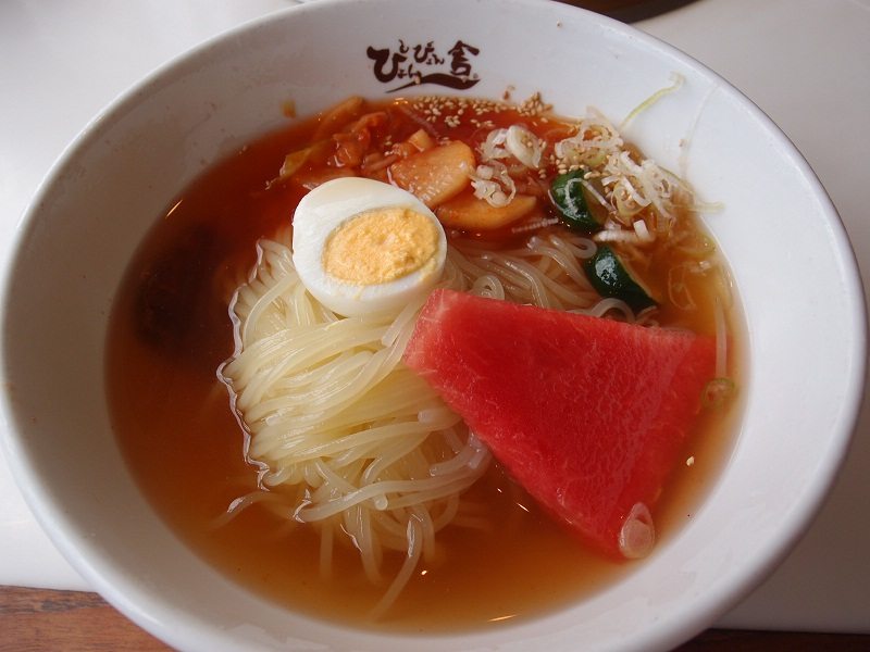 銀座 ぴょんぴょん舎GINZA UNA 盛岡冷麺ミニチヂミセット