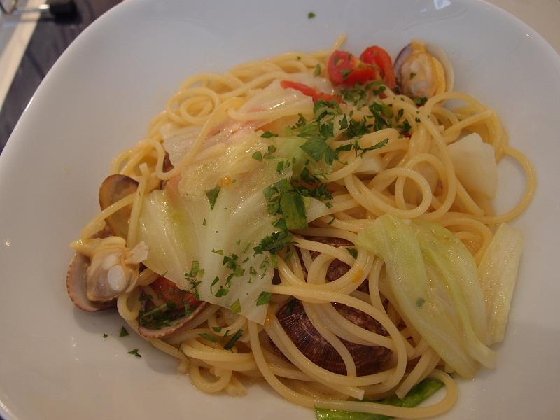 銀座 お魚&江田島バールpaccio スパゲッティ