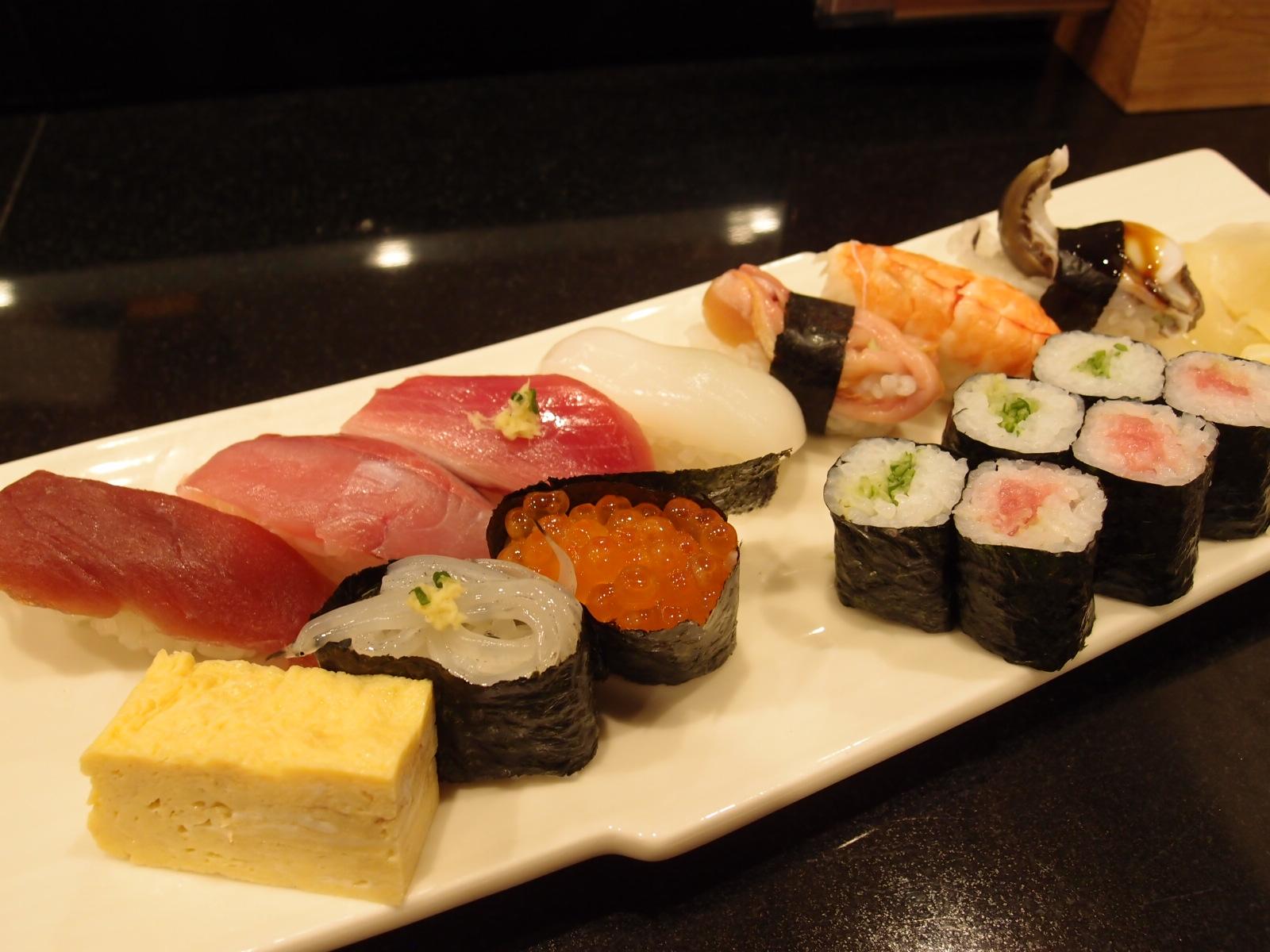 銀座 魚游 上にぎり寿司