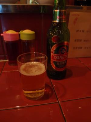 台南担仔麺 来来 ビール