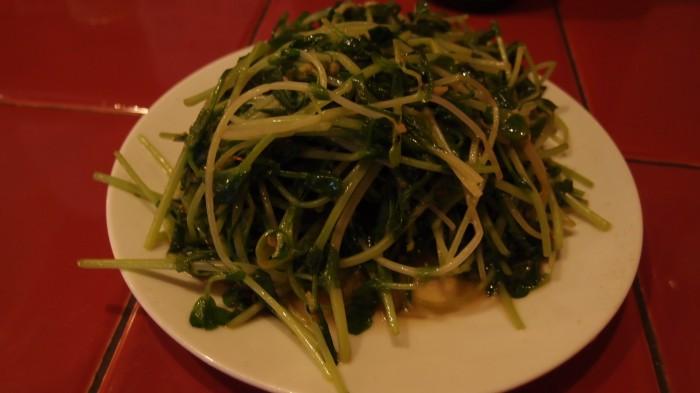 台南担仔麺 来来 炒青菜