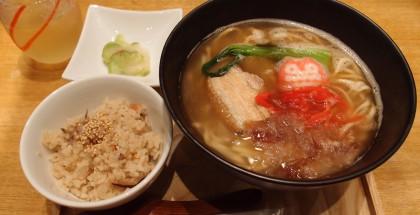 沖縄ラフテーそば定食