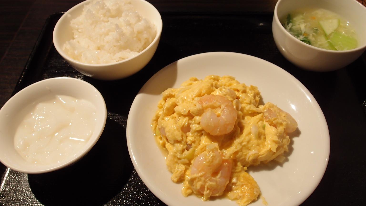 銀座 大上海 エビと玉子炒めランチ
