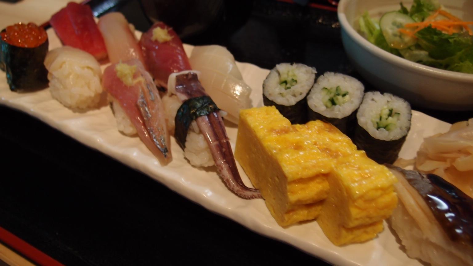 銀座 江戸銀 にぎり寿司定食