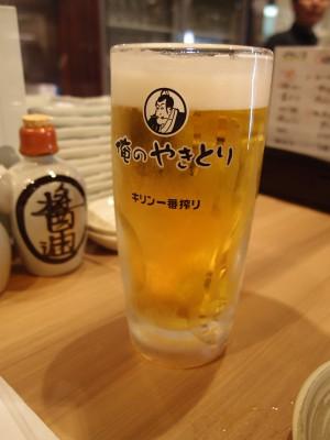 俺のやきとり銀座九丁目店 ビール