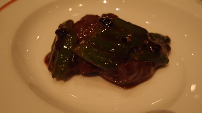 龍天門@ウエスティンホテル 牛肉とにがうり