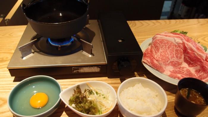 楽山 すき焼き定食
