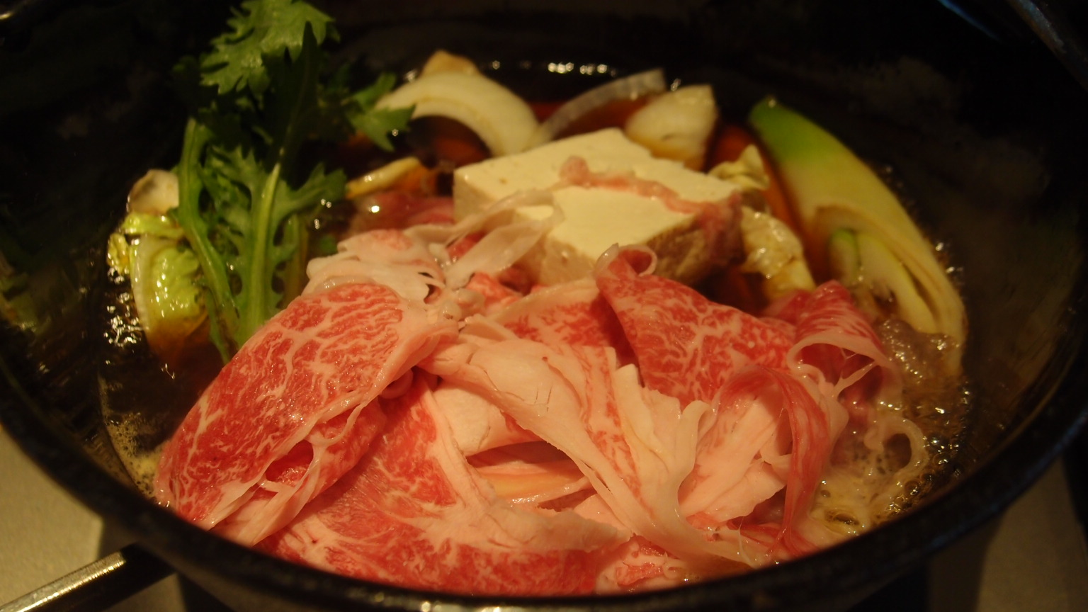 銀座 楽山 すき焼き定食