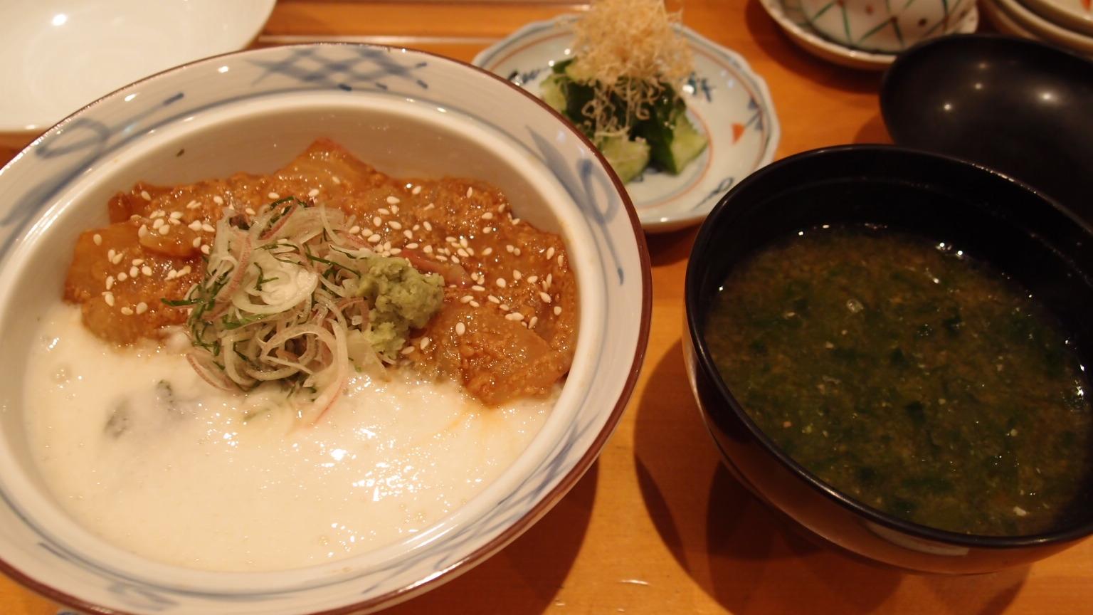 銀座 つばきや 本日の天然魚胡麻醤油山かけ丼