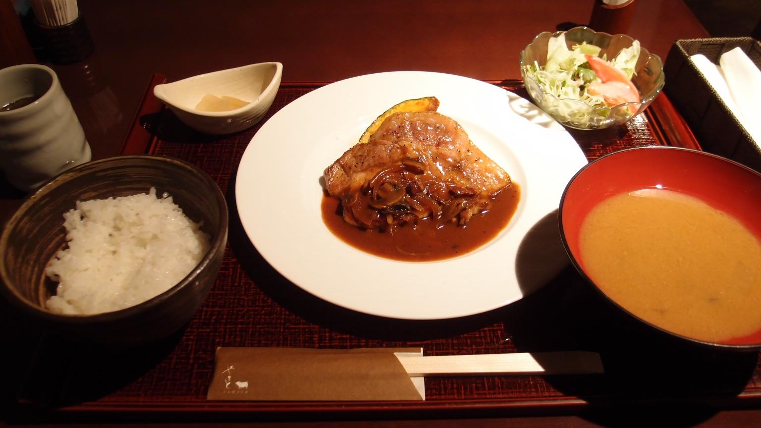銀座 豚肉創作料理やまと ポークソテークラシック風