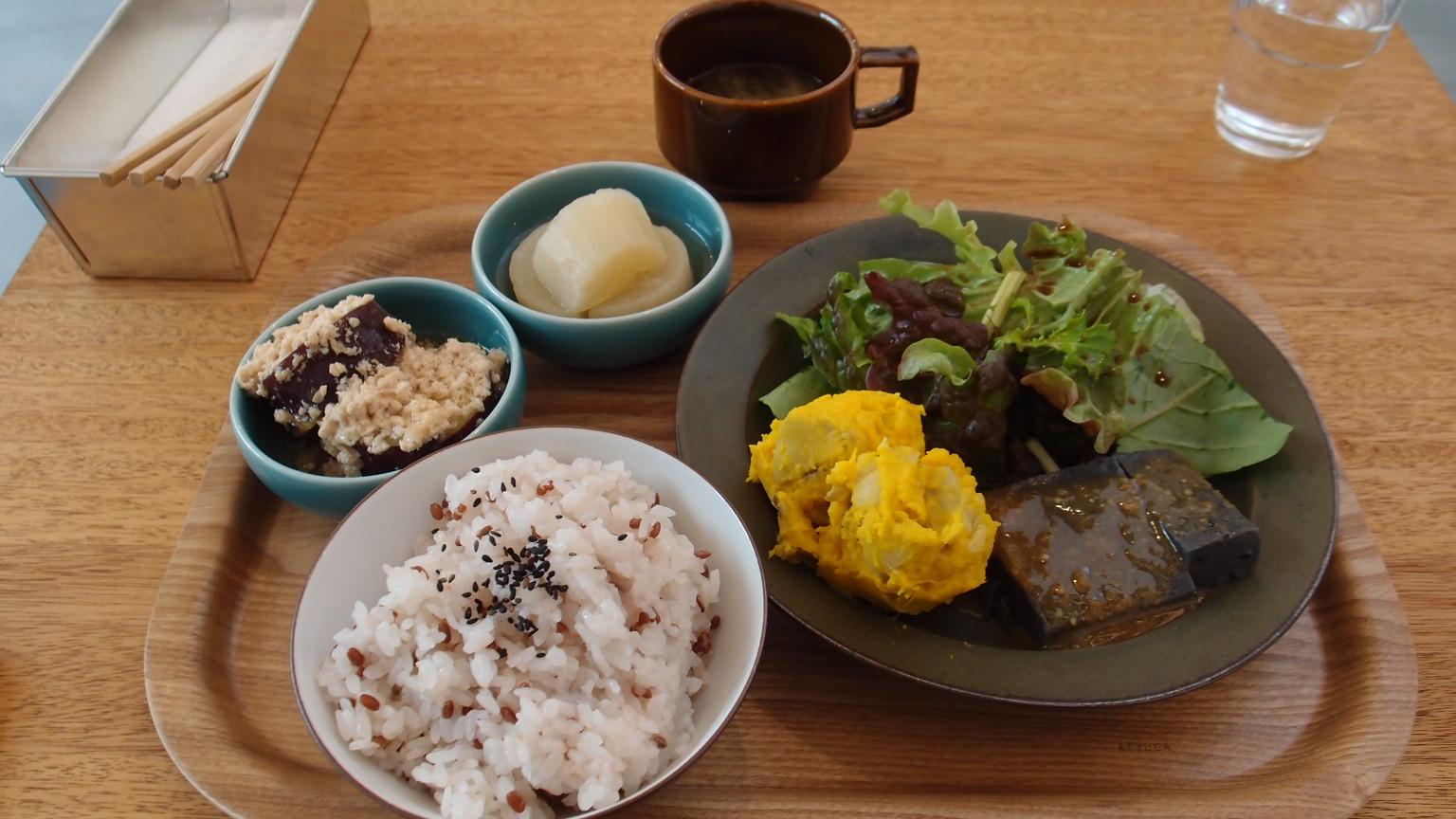 銀座 cafe634 副菜のプレート
