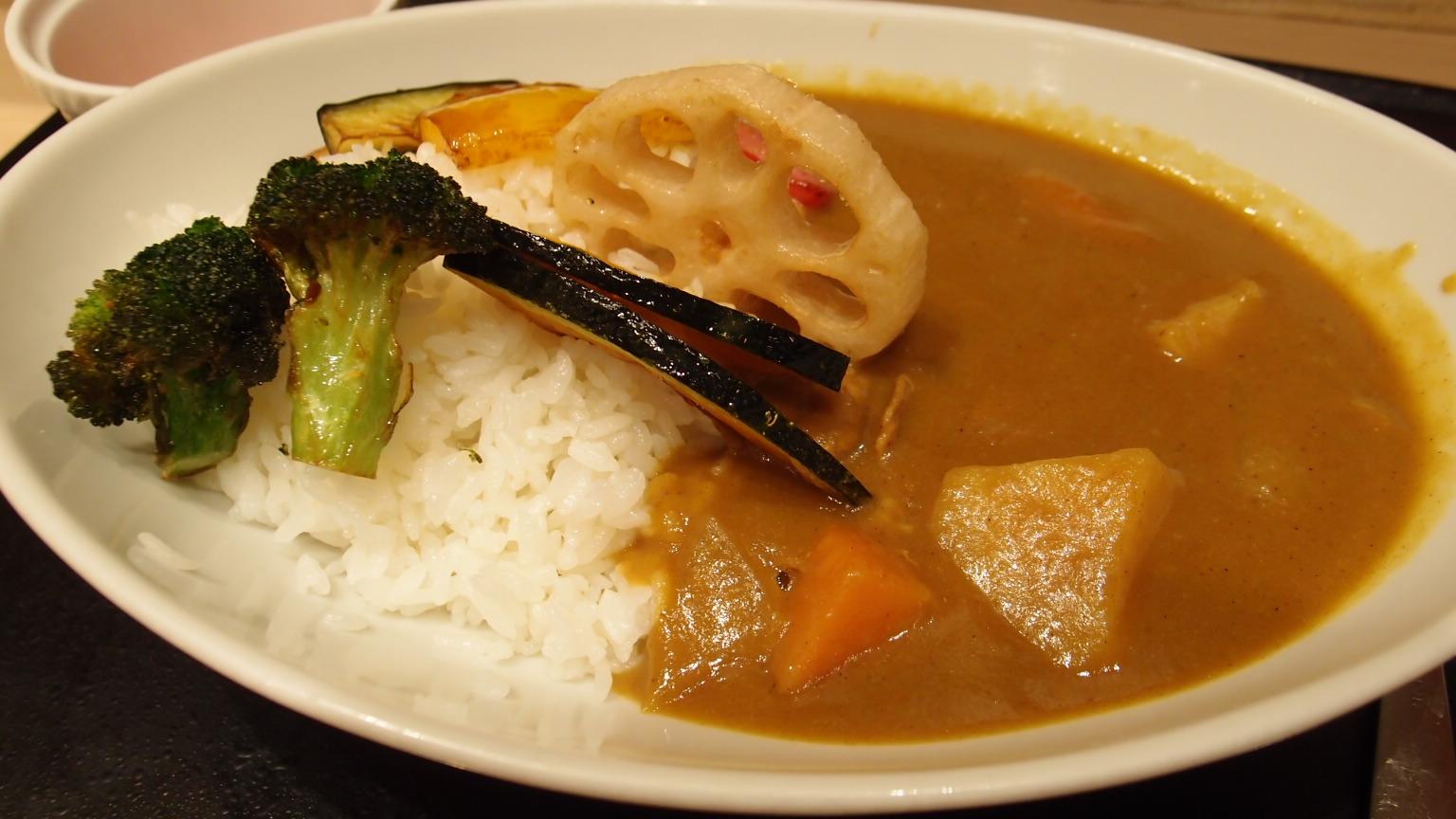 銀座 はなまるうどん+カレー 野菜カレー
