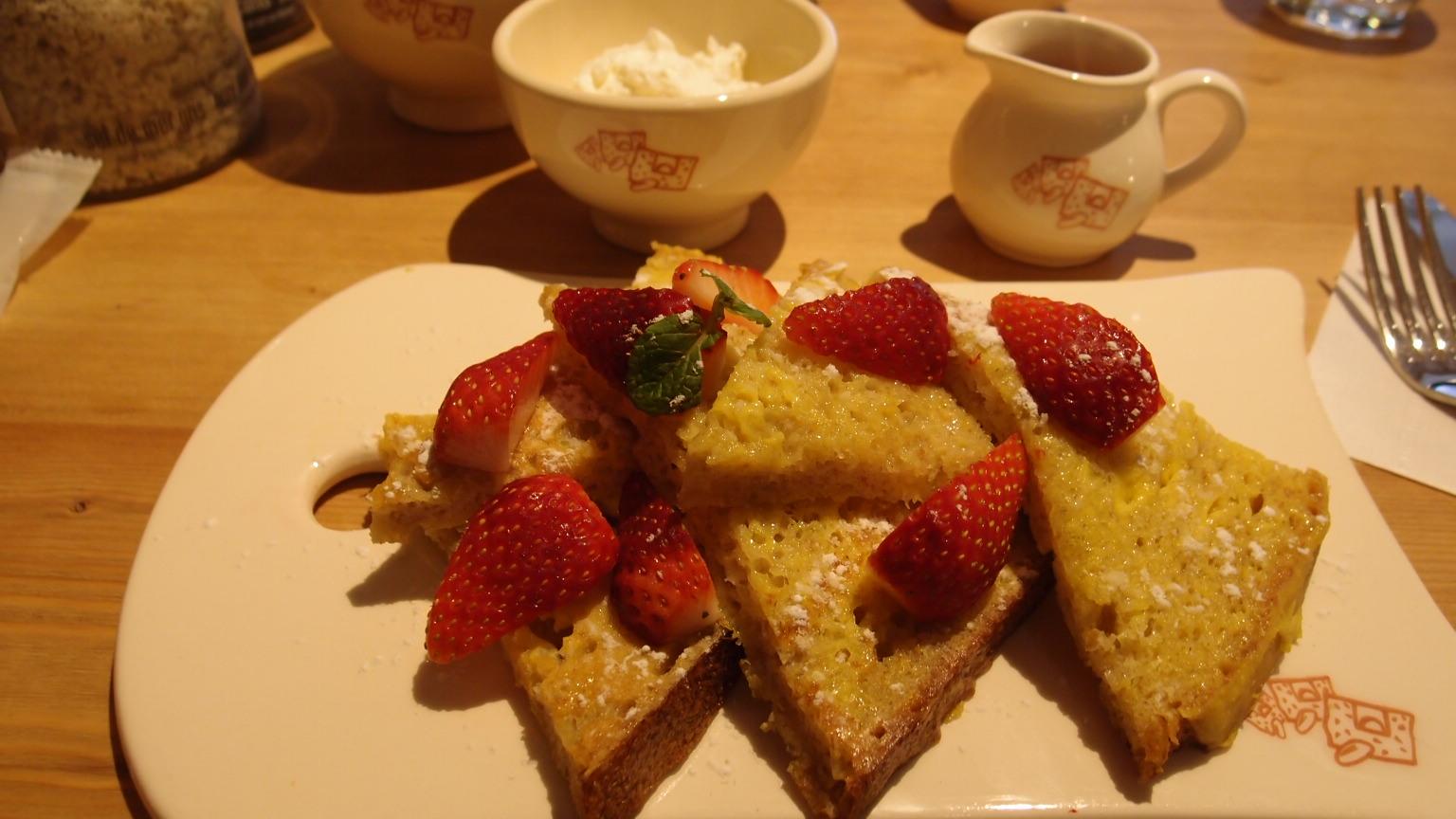 有楽町 ル・パン・コティディアン オーガニック小麦のフレンチトースト | キッシュwithスープ