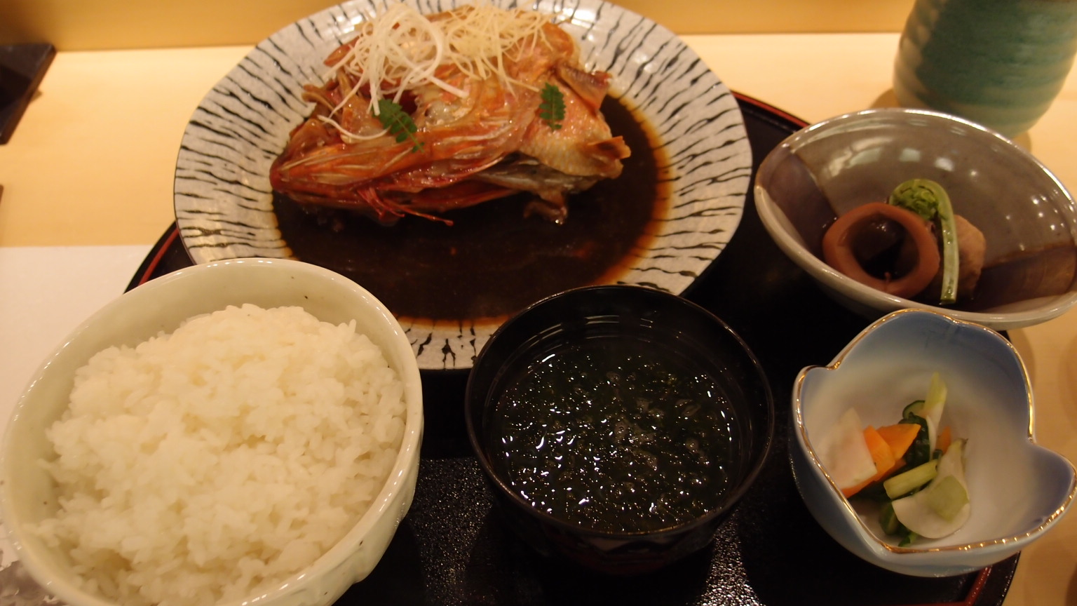 銀座 鮨正 煮魚定食