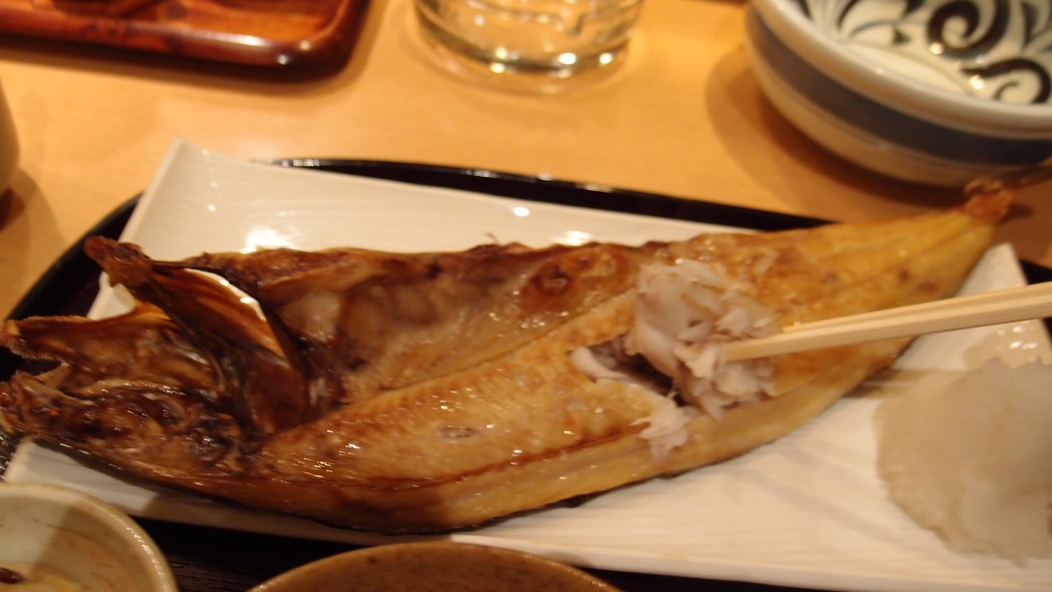 銀座 歓 ほっけ焼き定食