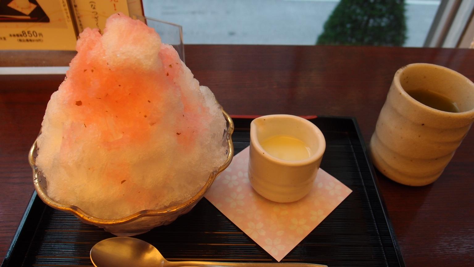 銀座 立田野 夏桜(かき氷)