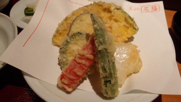 左膳 野菜天ぷら