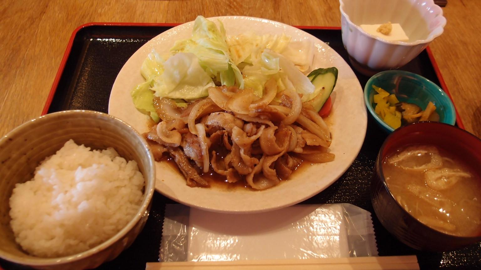 銀座 喜皿 豚の生姜焼き定食