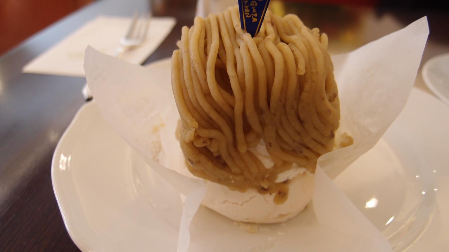 銀座 みゆき館本店(CAFE de GINZA MIYUKI-KAN) モンブラン