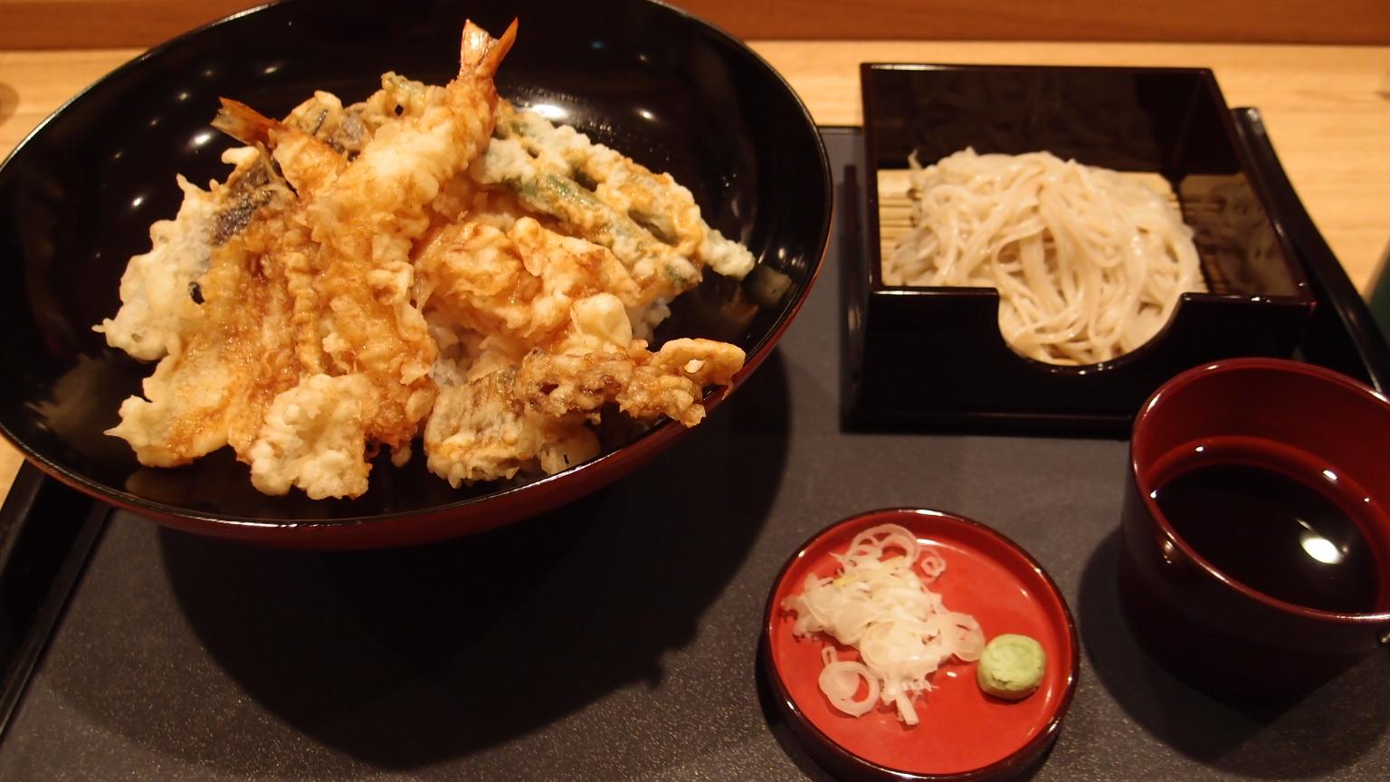銀座 捨松 たまげた天丼と会津そば