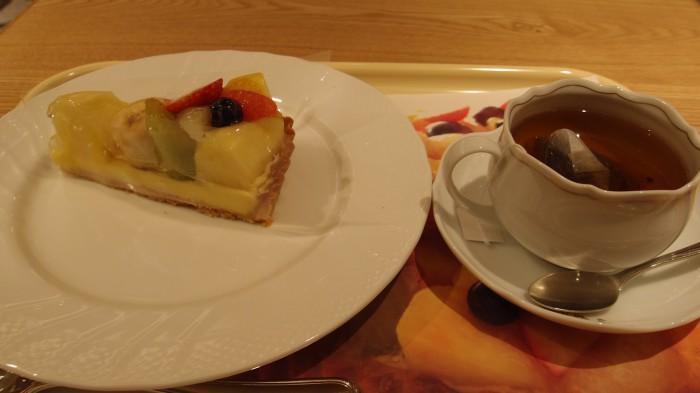 D'elices tarte&café ケーキセット