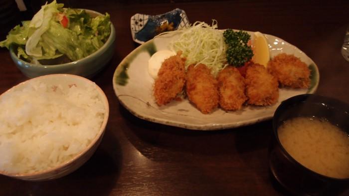 かきしゃぶ屋 牡蠣フライ定食